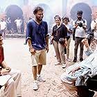 Amitabh Bachchan, Shoojit Sircar, and Ayushmann Khurrana in Gulabo Sitabo (2020)