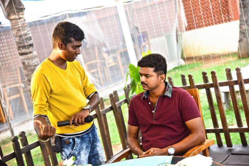 Joseph Vijay and Atlee Kumar in Theri (2016)