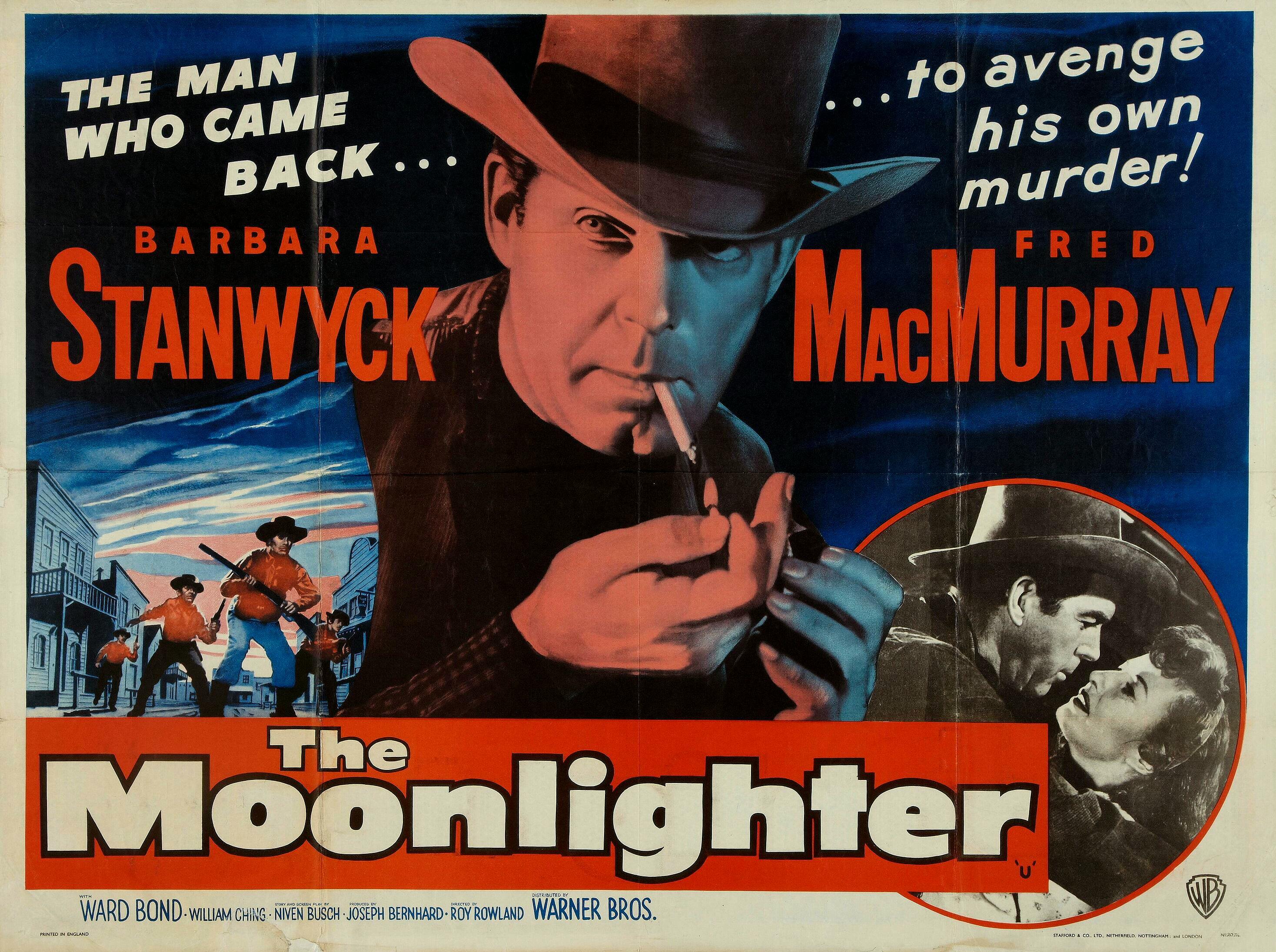 Barbara Stanwyck and Fred MacMurray in The Moonlighter (1953)