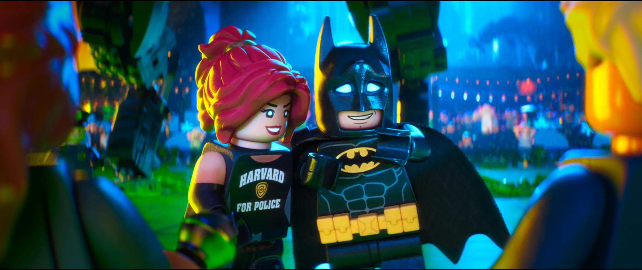 Will Arnett and Rosario Dawson in The Lego Batman Movie (2017)