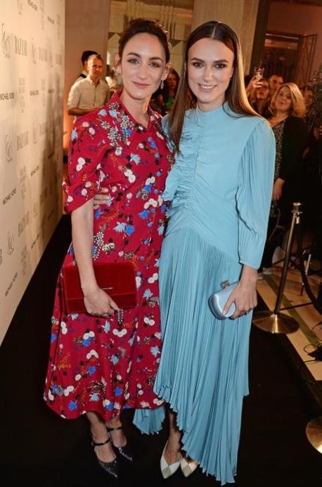 Cara Horgan and Keira Knightley at Harper's Bazaar Women Of The Year Awards
