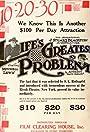 Life's Greatest Problem