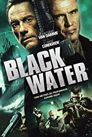 Dolph Lundgren, Jean-Claude Van Damme, and Cathal Pendred in Black Water (2018)