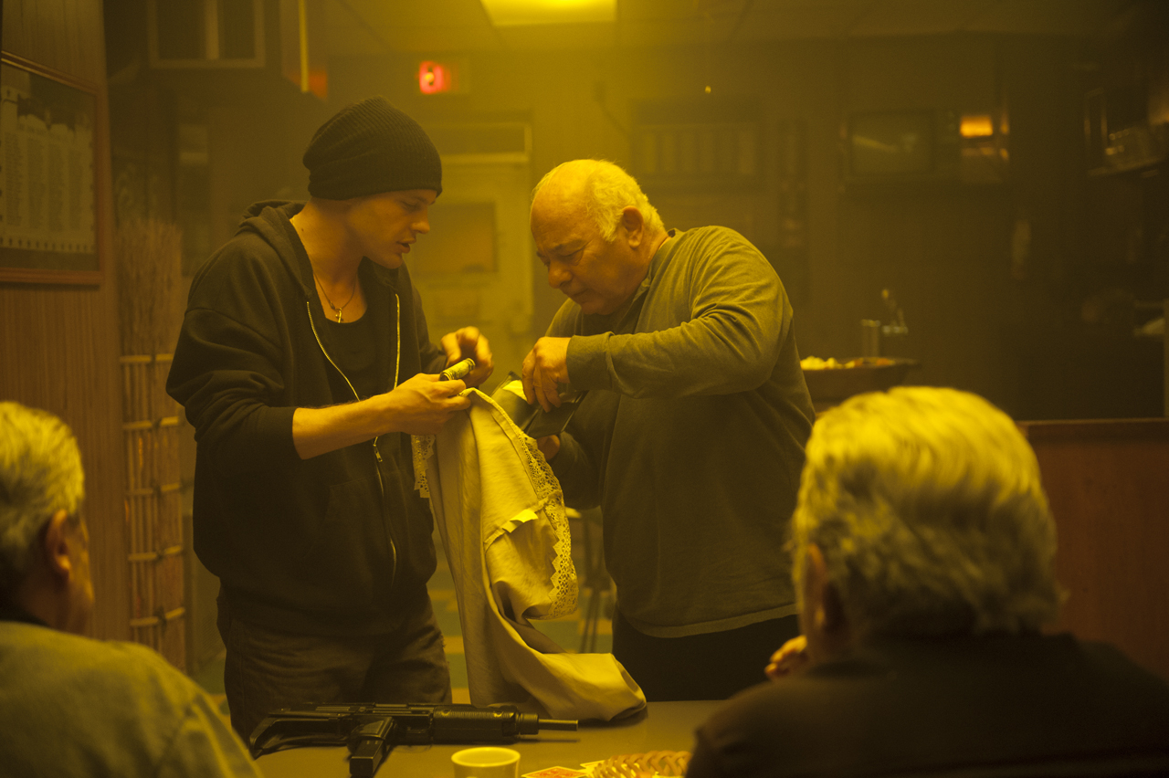 Michael Pitt and Burt Young in Rob the Mob (2014)