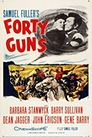 Barbara Stanwyck and Barry Sullivan in Forty Guns (1957)