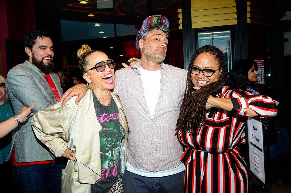 Victoria Mahoney with Taika Waititi and Ava Duvernay