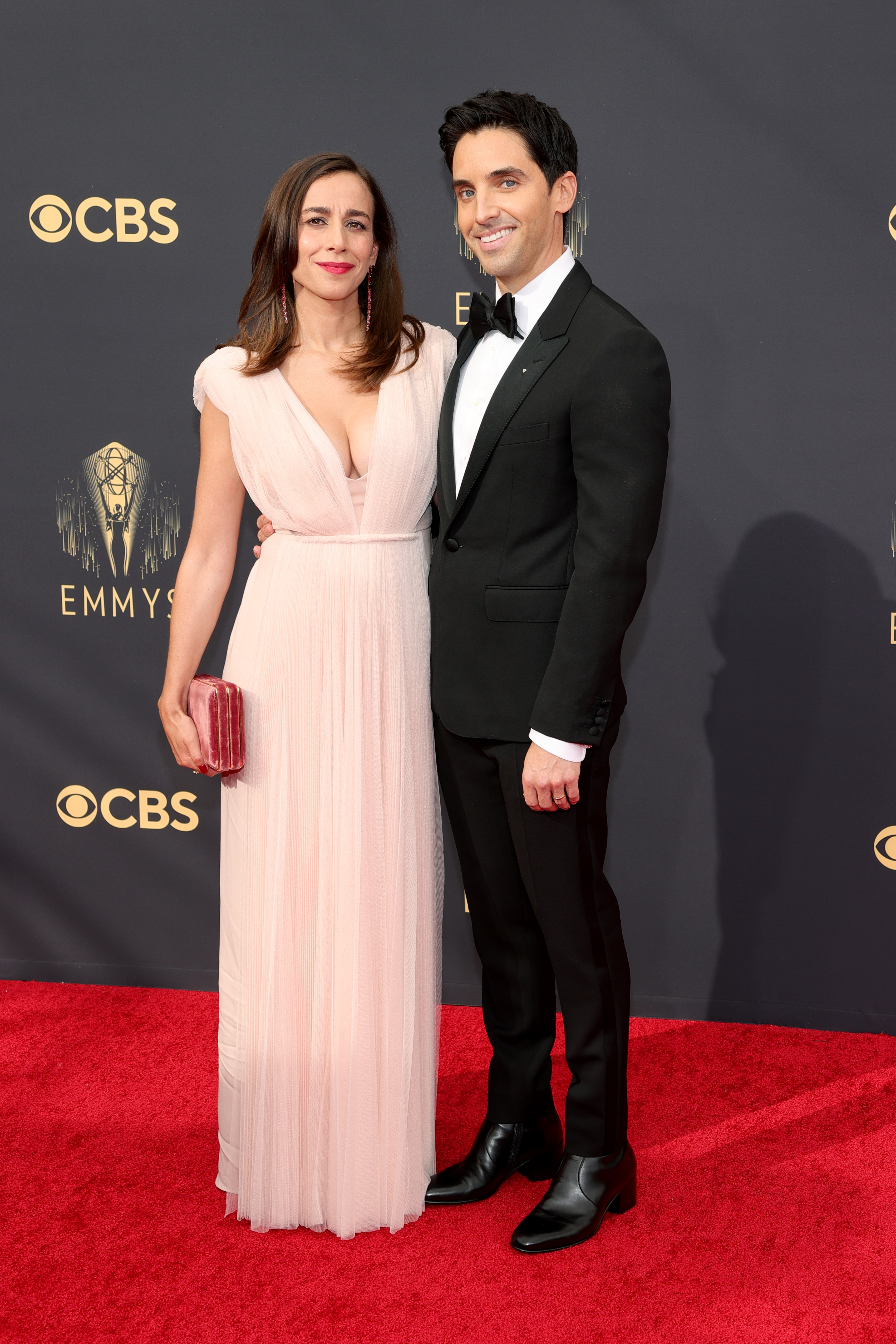 Lucia Aniello and Paul W. Downs at an event for The 73rd Primetime Emmy Awards (2021)