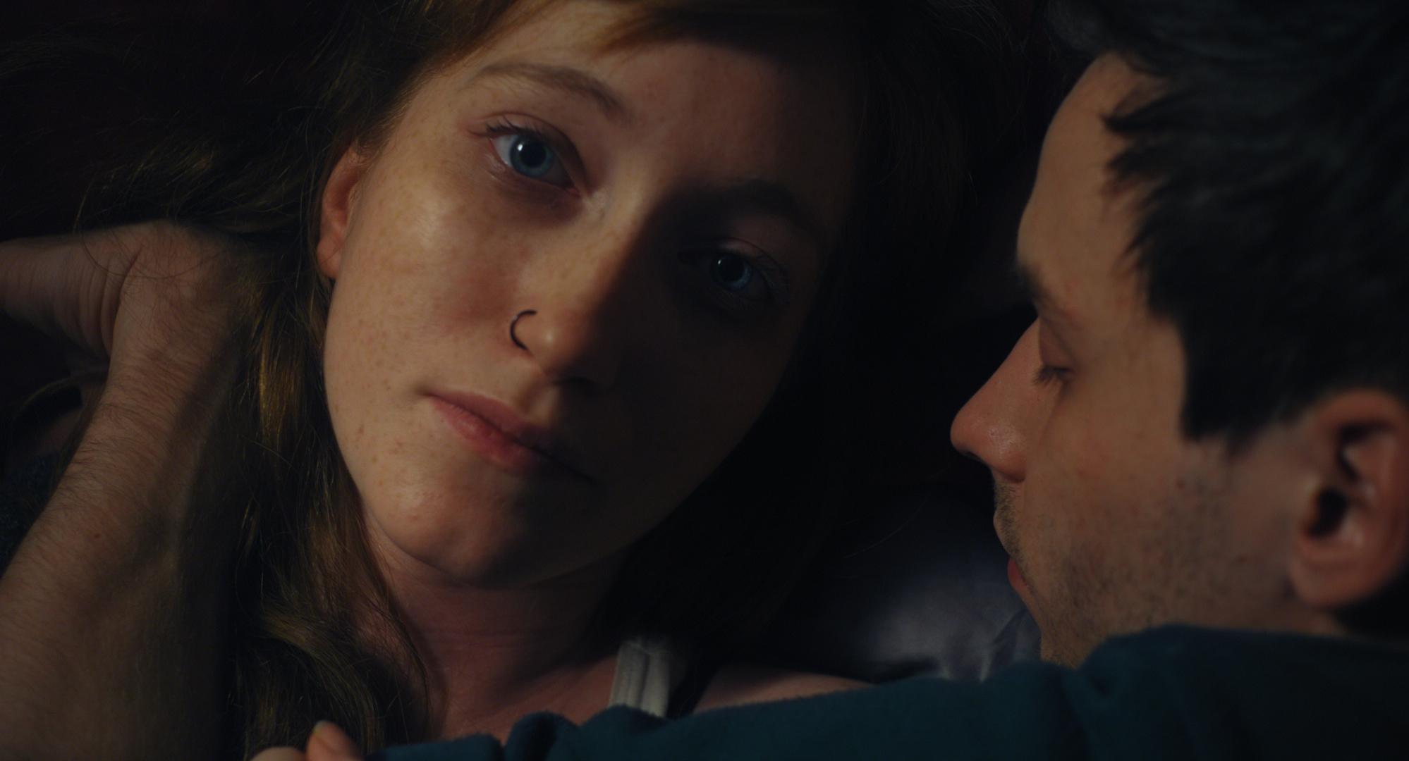 Daniel Helmer and Sarah Kleiner in Erlösung (2014)