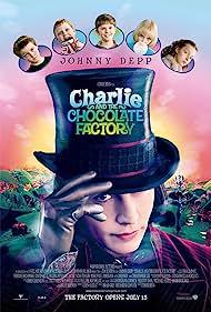 Johnny Depp, Freddie Highmore, AnnaSophia Robb, Julia Winter, Jordan Fry, and Philip Wiegratz in Charlie and the Chocolate Factory (2005)