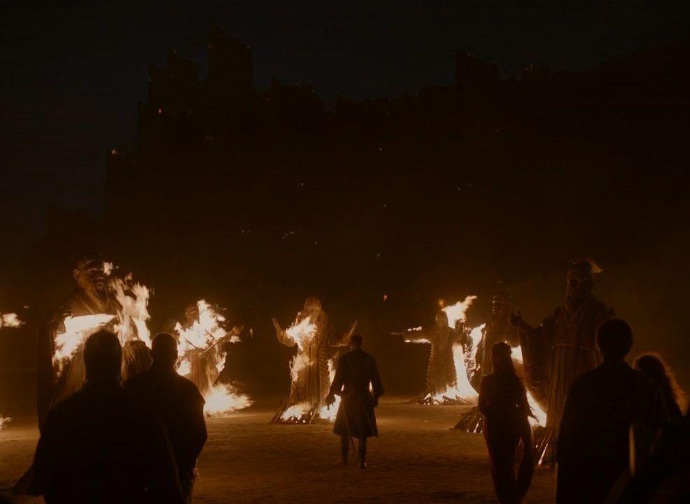 Liam Cunningham, Stephen Dillane, Carice van Houten, and Kerr Logan in Game of Thrones (2011)