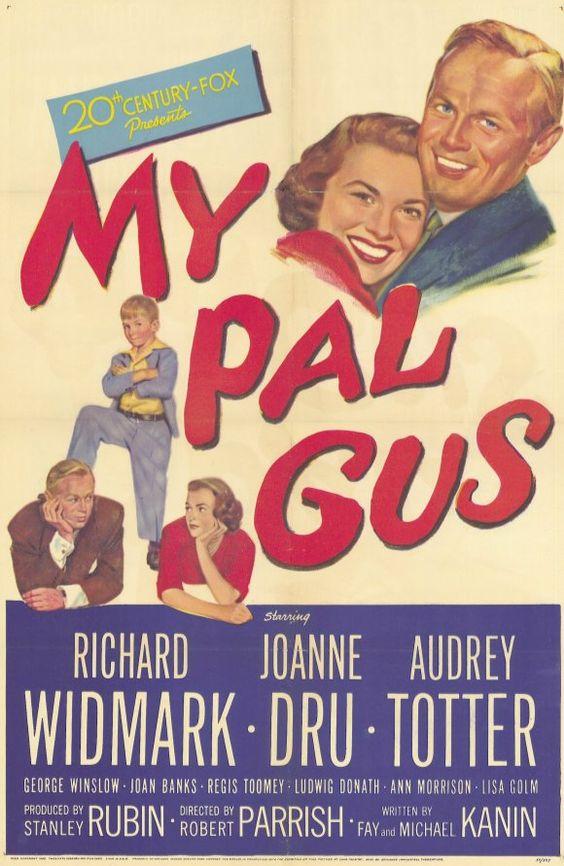 Richard Widmark, Joanne Dru, Audrey Totter, and George Winslow in My Pal Gus (1952)