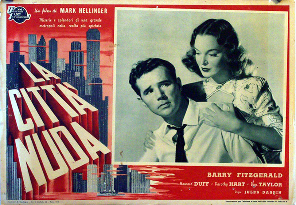 Howard Duff and Dorothy Hart in The Naked City (1948)