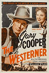 Gary Cooper, Walter Brennan, and Doris Davenport in The Westerner (1940)