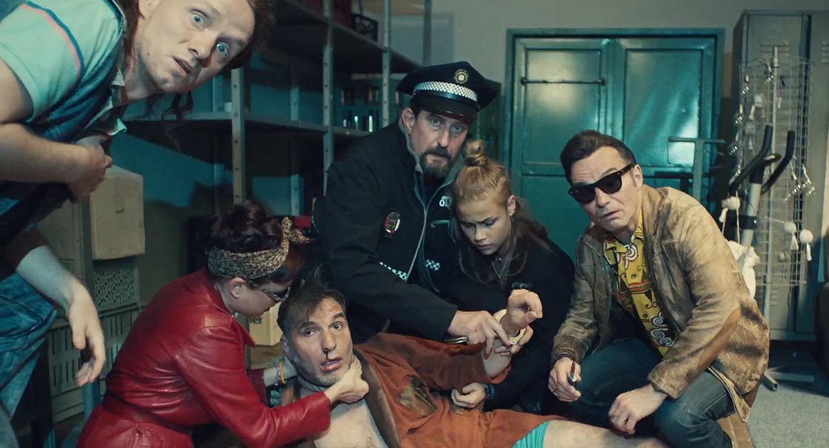 Jaromír Dulava, Jirí Machácek, Ivan Trojan, Kristýna Boková, Jirí Simek, and Veronika Marková in Bourák (2020)