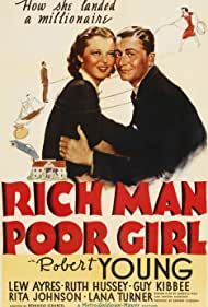 Robert Young and Ruth Hussey in Rich Man, Poor Girl (1938)