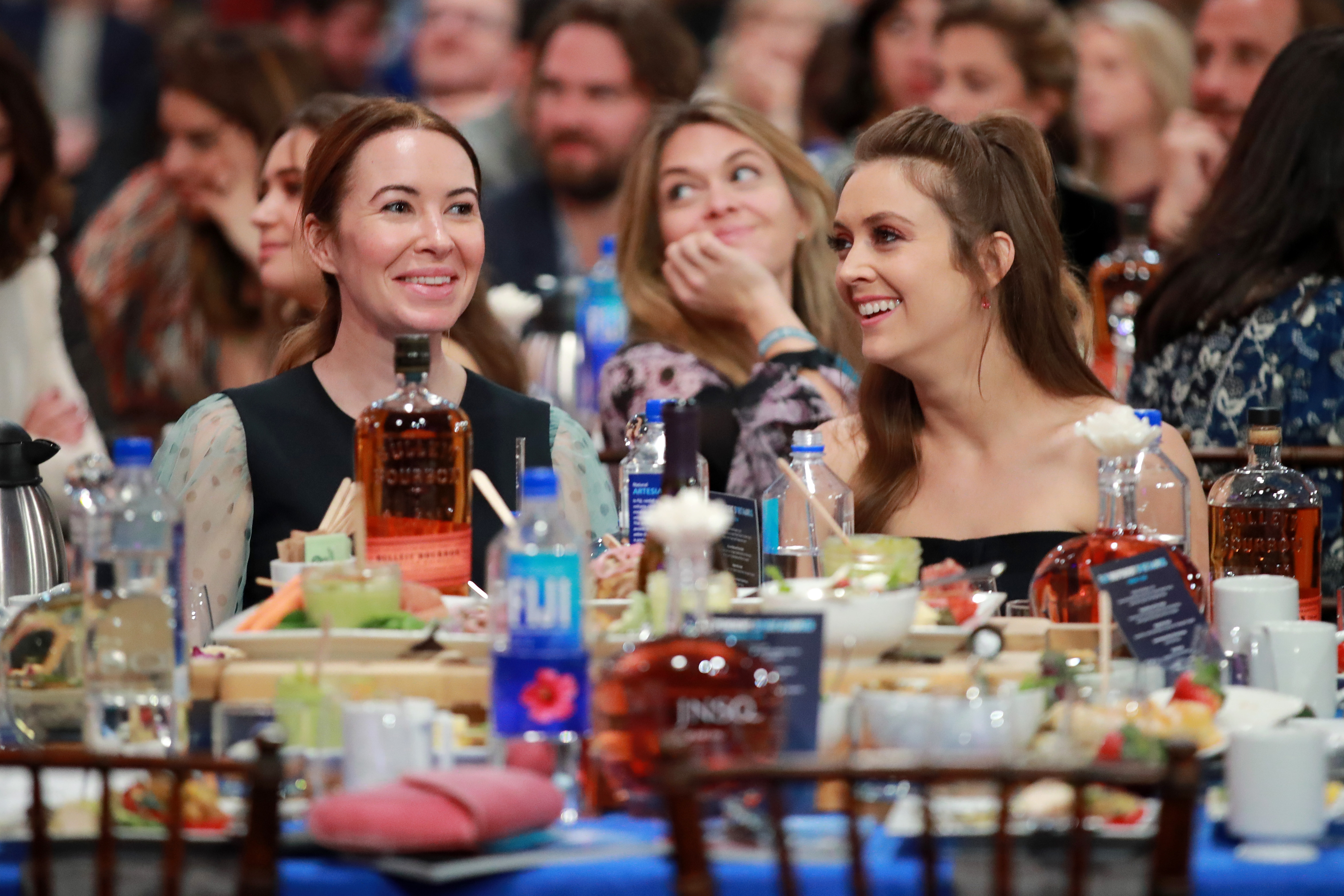 Katie Silberman and Billie Lourd at an event for 35th Film Independent Spirit Awards (2020)