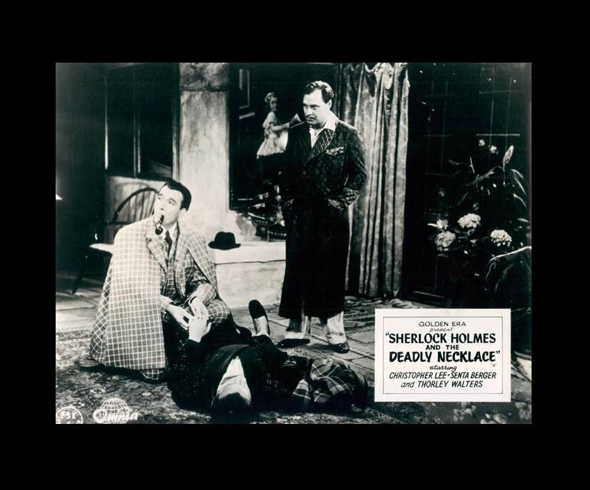Christopher Lee and Ivan Desny in Sherlock Holmes und das Halsband des Todes (1962)