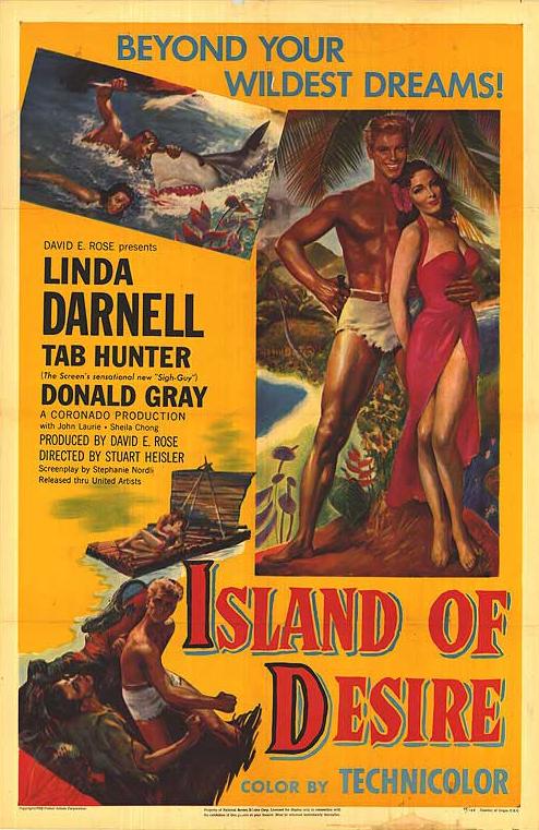 Linda Darnell and Tab Hunter in Saturday Island (1952)