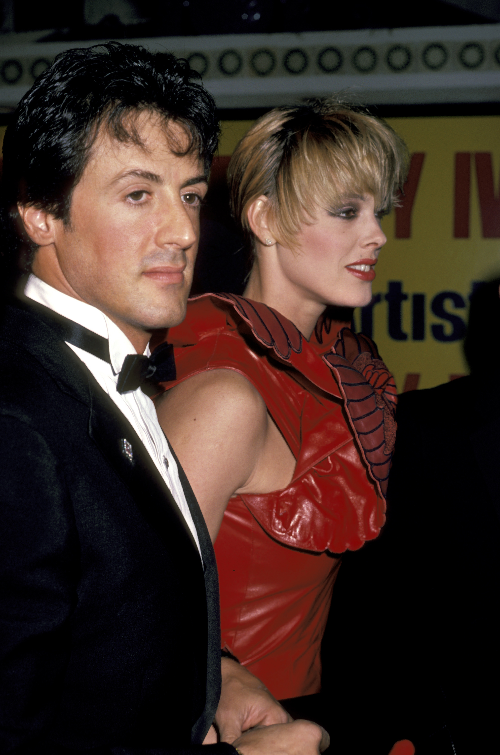 Sylvester Stallone and Brigitte Nielsen at an event for Rocky IV (1985)