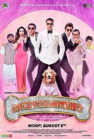 Mithun Chakraborty, Akshay Kumar, Johnny Lever, Prakash Raj, Sonu Sood, Tamannaah Bhatia, Krishna Abhishek, and Junior in It's Entertainment (2014)