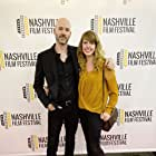 """Writer/Director Chad Crawford Kinkle and Producer Ashleigh Snead at the Premiere for """"Dementer"""" at the Nashville Film Festival 2019"""
