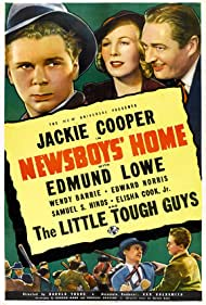 Wendy Barrie, Jackie Cooper, and Edmund Lowe in Newsboys' Home (1938)