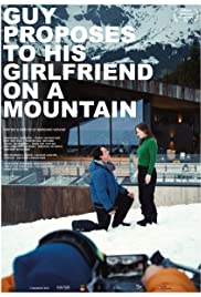 Guy proposes to his girlfriend on a mountain Poster