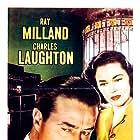 Charles Laughton, Ray Milland, and Maureen O'Sullivan in The Big Clock (1948)