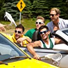 Jared Sandler, Milo Ventimiglia, Taylor Lautner, and Chris Titone in Grown Ups 2 (2013)