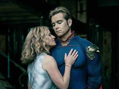 Elisabeth Shue and Antony Starr in The Boys 2019