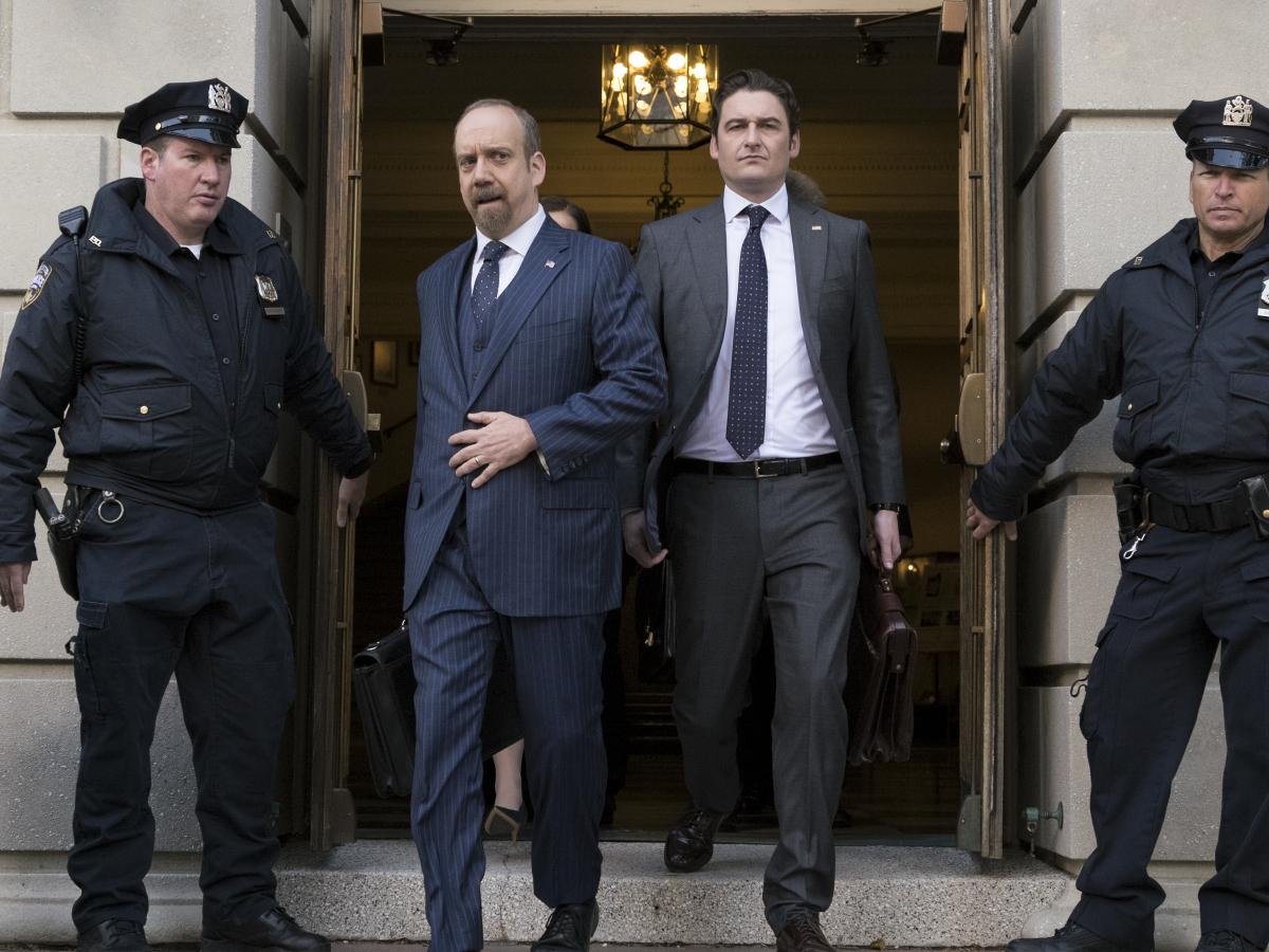 Paul Giamatti and Toby Leonard Moore in Billions (2016)