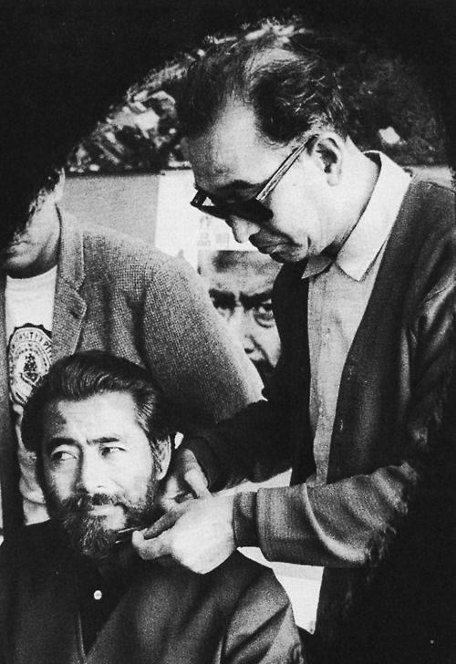 Akira Kurosawa and Toshirô Mifune in Akahige (1965)