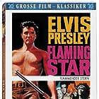 Elvis Presley, Barbara Eden, Steve Forrest, Dolores del Rio, and Rodolfo Acosta in Flaming Star (1960)