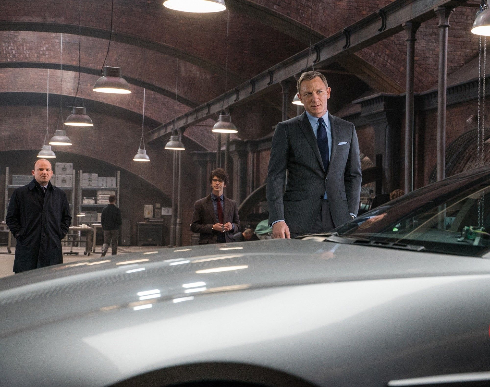 Daniel Craig, Ben Whishaw, and Rory Kinnear in Spectre (2015)
