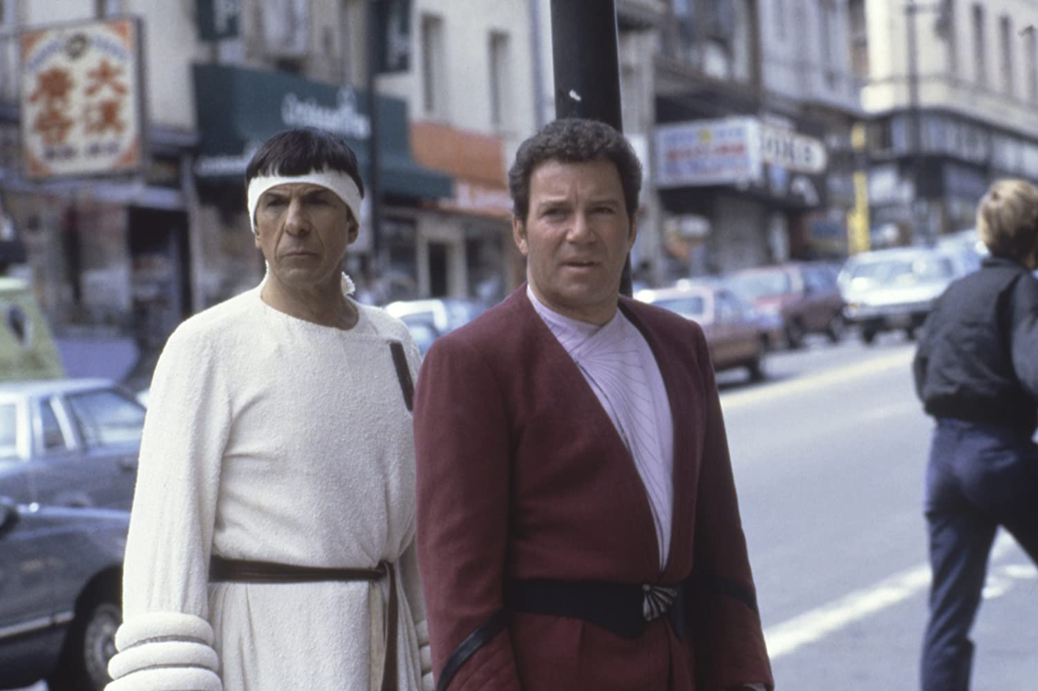 Leonard Nimoy and William Shatner in Star Trek IV The Voyage Home 1986