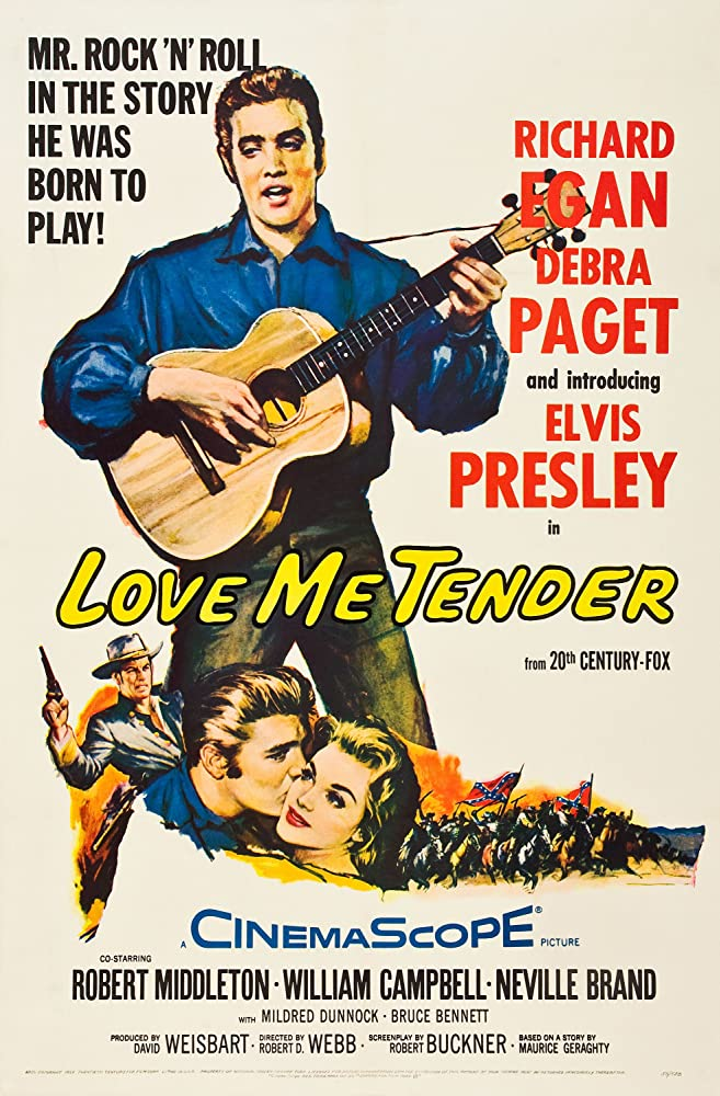 Elvis Presley, Richard Egan, and Debra Paget in Love Me Tender (1956)