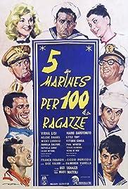 5 marines per 100 ragazze Poster