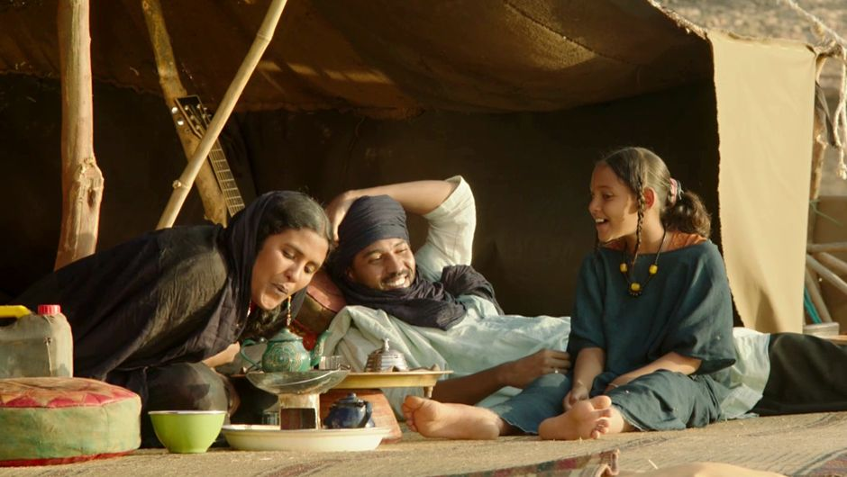 Toulou Kiki, Ibrahim Ahmed, and Layla Walet Mohamed in Timbuktu (2014)