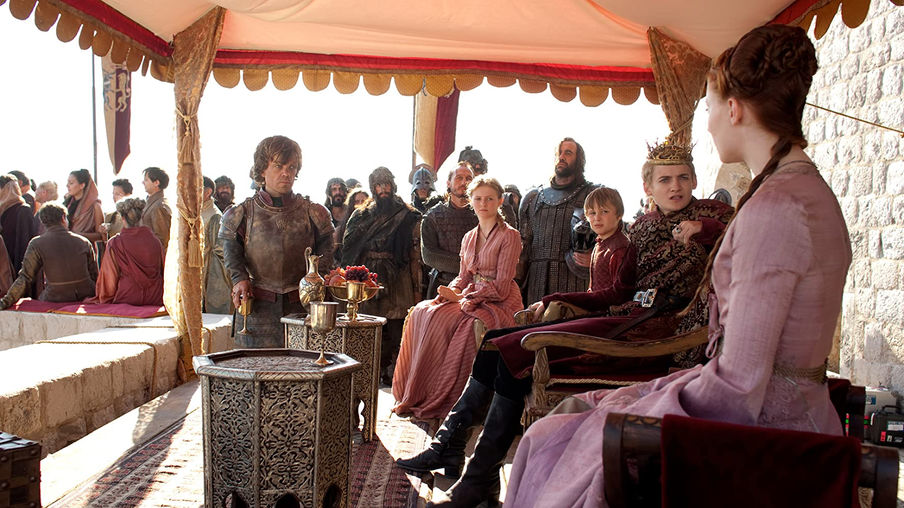 Peter Dinklage, Jerome Flynn, Jack Gleeson, Rory McCann, Sophie Turner, Aimee Richardson, and Callum Wharry in Game of Thrones (2011)