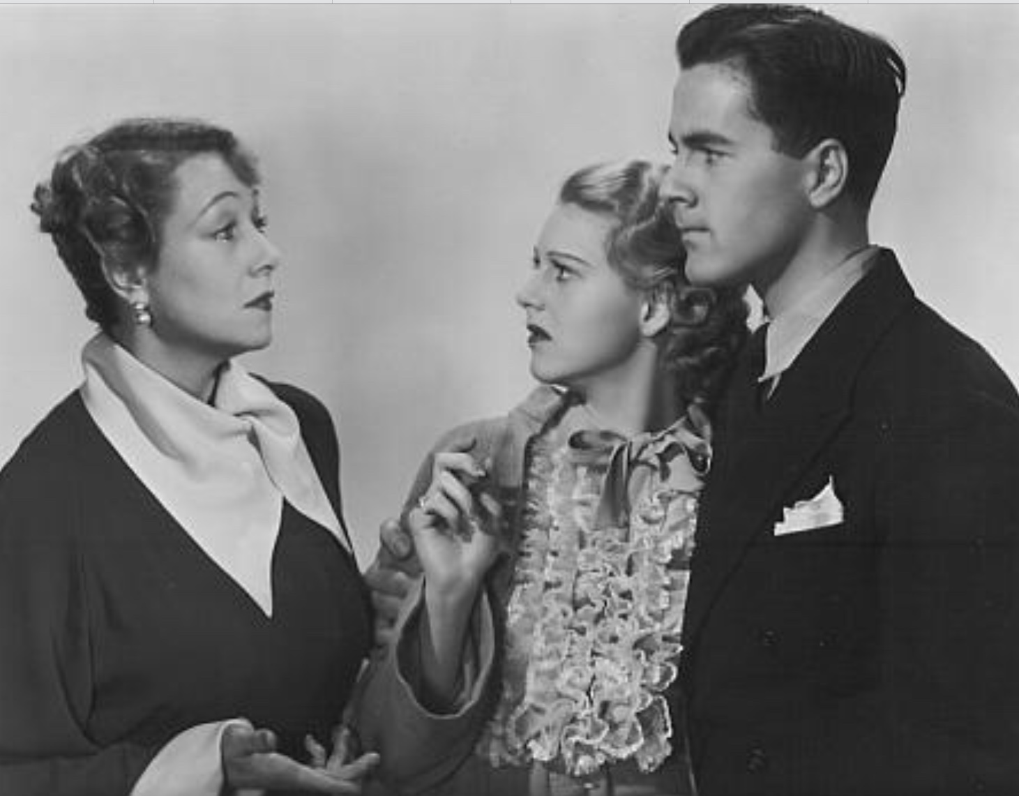 Shirley Deane, Johnny Downs, and Marjorie Gateson in The First Baby (1936)