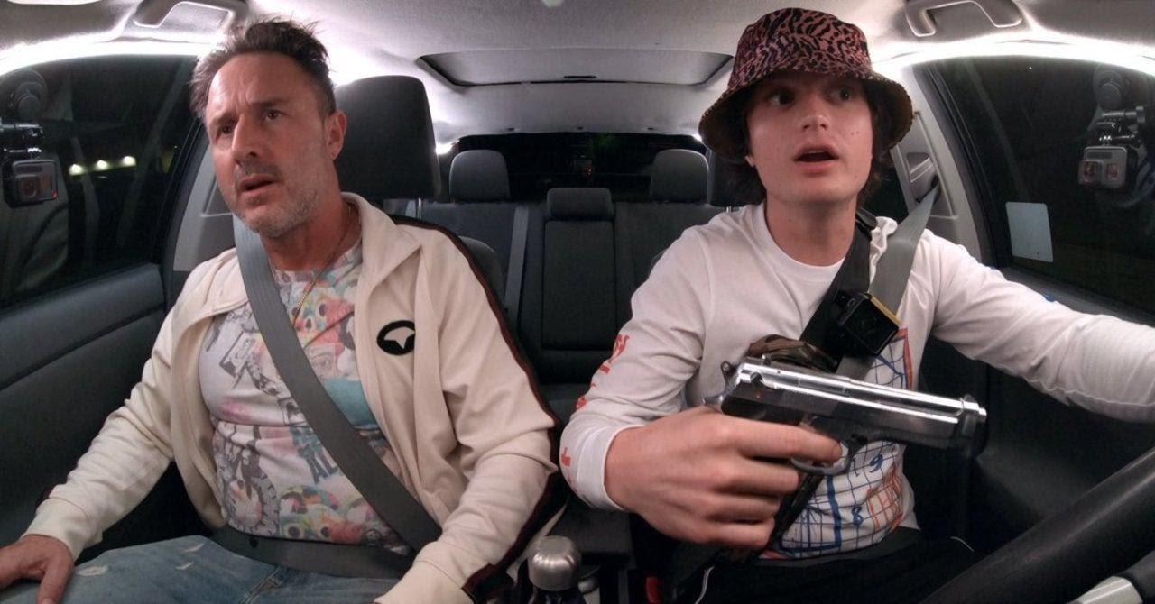 David Arquette and Joe Keery in Spree (2020)
