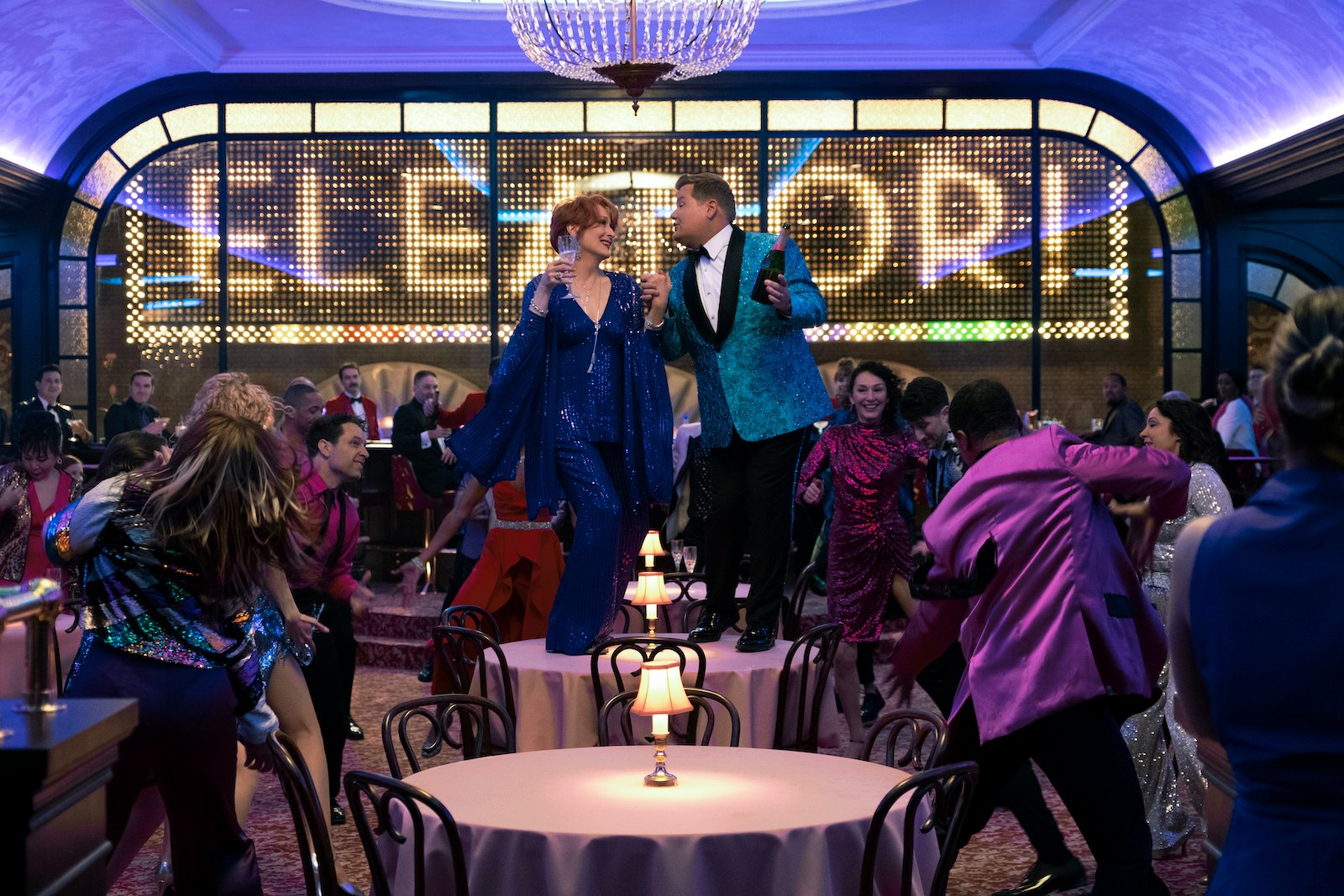 Meryl Streep and James Corden in The Prom (2020)