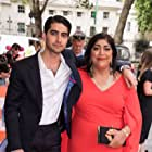 Gurinder Chadha and Viveik Kalra at an event for Blinded by the Light (2019)
