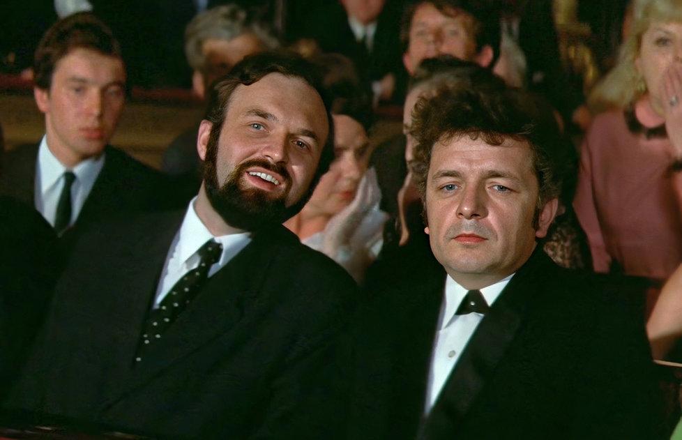 Zdenek Sverák and Ladislav Smoljak in Pane, vy jste vdova! (1971)