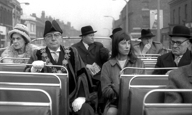 Arthur Lowe and Patricia Healey in The White Bus (1967)