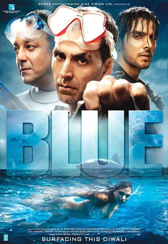 Blue 2009 Hindi Movie 720p BluRay ESub 900MB Download