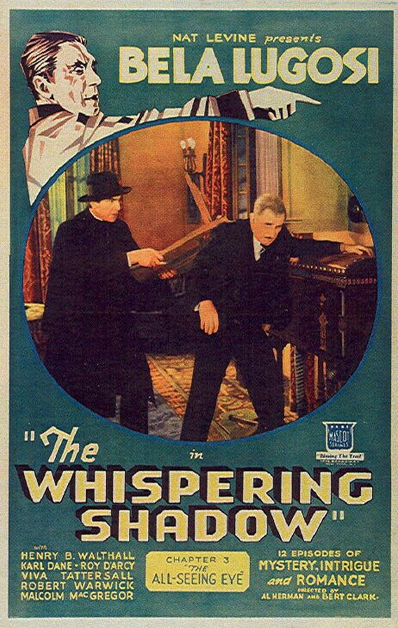 Bela Lugosi and Roy D'Arcy in The Whispering Shadow (1933)