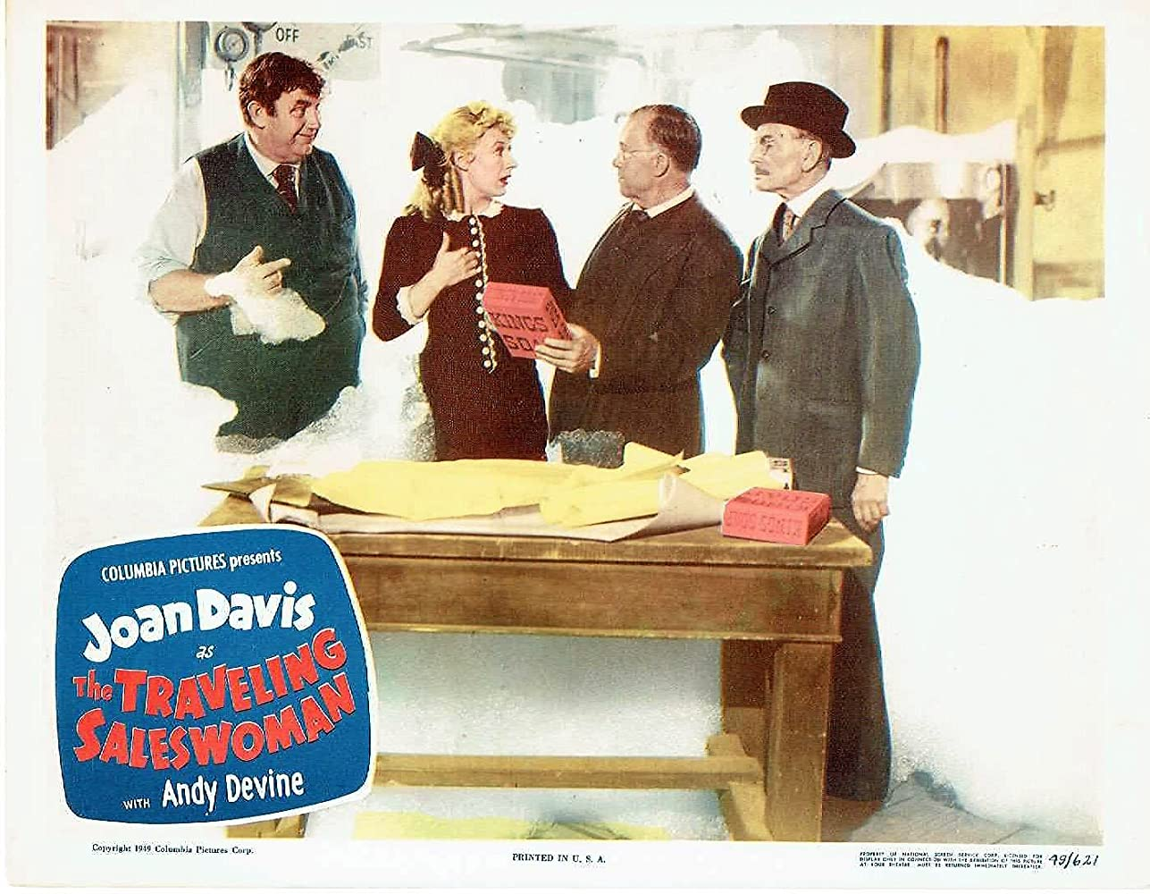 Joan Davis, Andy Devine, Charles Halton, and Harry Hayden in The Traveling Saleswoman (1950)