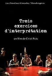 Trois exercices d'interprétation Poster