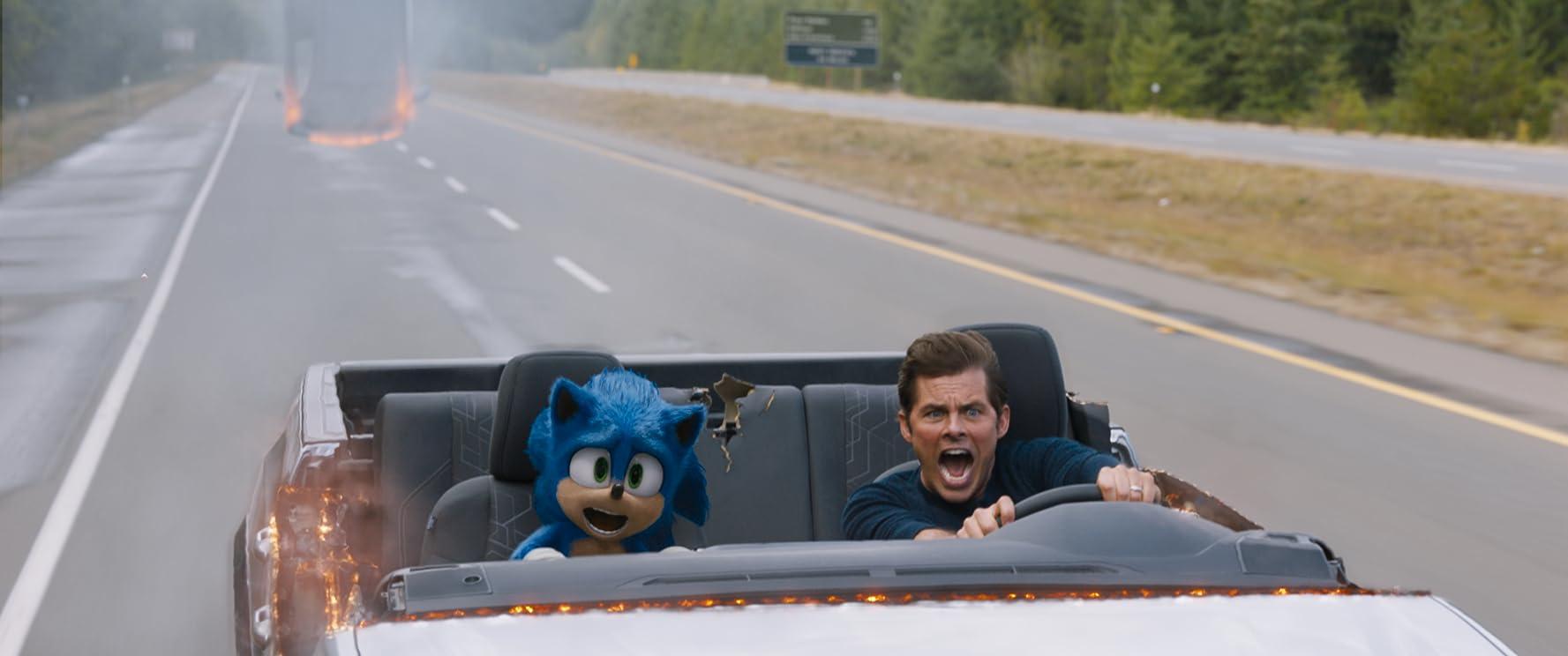 James Marsden and Ben Schwartz in Sonic the Hedgehog (2020)